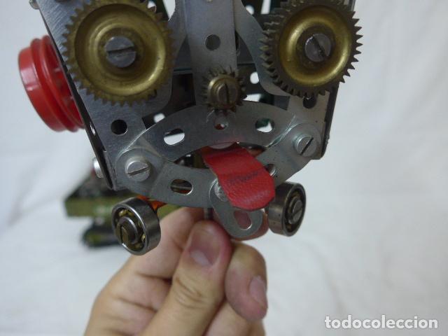 Juegos construcción - Meccano: Lote de meccano antiguo, años 50. camion militar + cara. Original - Foto 4 - 134006110