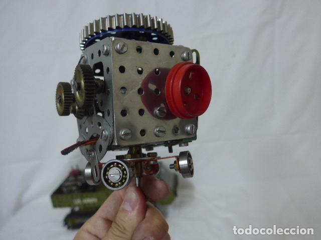 Juegos construcción - Meccano: Lote de meccano antiguo, años 50. camion militar + cara. Original - Foto 5 - 134006110