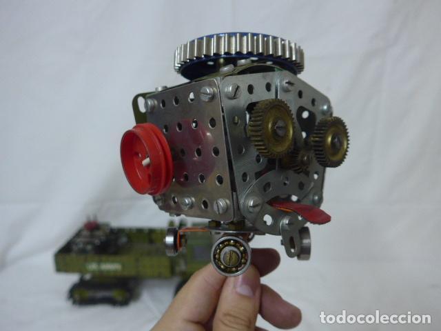 Juegos construcción - Meccano: Lote de meccano antiguo, años 50. camion militar + cara. Original - Foto 6 - 134006110