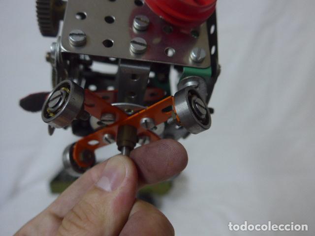 Juegos construcción - Meccano: Lote de meccano antiguo, años 50. camion militar + cara. Original - Foto 8 - 134006110