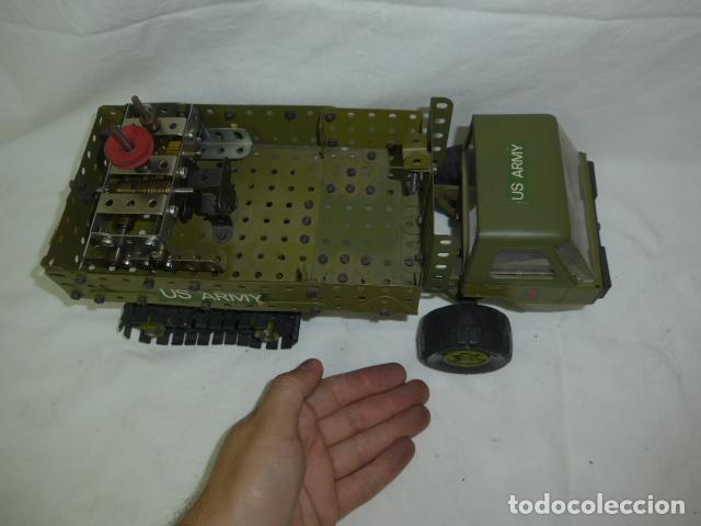 Juegos construcción - Meccano: Lote de meccano antiguo, años 50. camion militar + cara. Original - Foto 11 - 134006110
