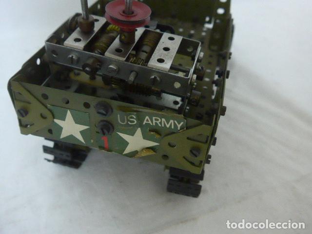 Juegos construcción - Meccano: Lote de meccano antiguo, años 50. camion militar + cara. Original - Foto 13 - 134006110