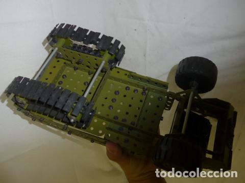 Juegos construcción - Meccano: Lote de meccano antiguo, años 50. camion militar + cara. Original - Foto 19 - 134006110