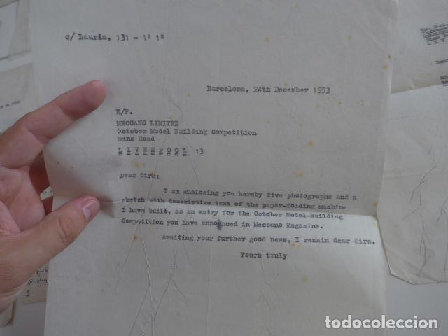 Juegos construcción - Meccano: Lote meccano premio de Liverpool 1953, maquina rallar papel + 7 diplomas + documentos... - Foto 45 - 132421206