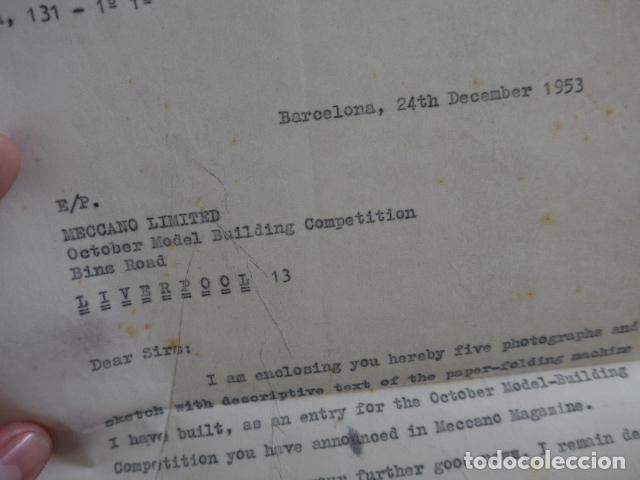 Juegos construcción - Meccano: Lote meccano premio de Liverpool 1953, maquina rallar papel + 7 diplomas + documentos... - Foto 47 - 132421206