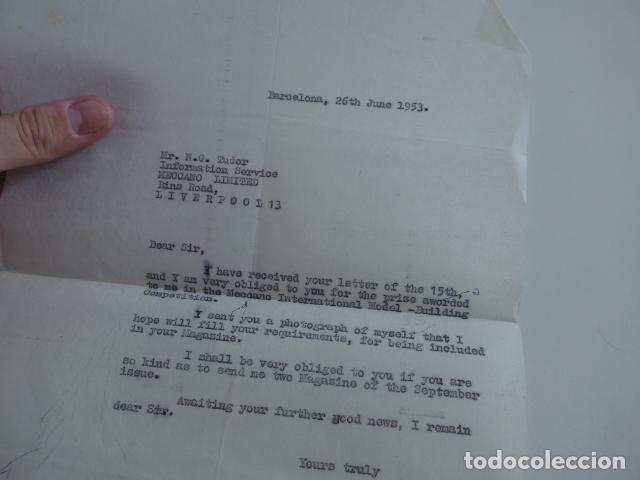 Juegos construcción - Meccano: Lote meccano premio de Liverpool 1953, maquina rallar papel + 7 diplomas + documentos... - Foto 48 - 132421206