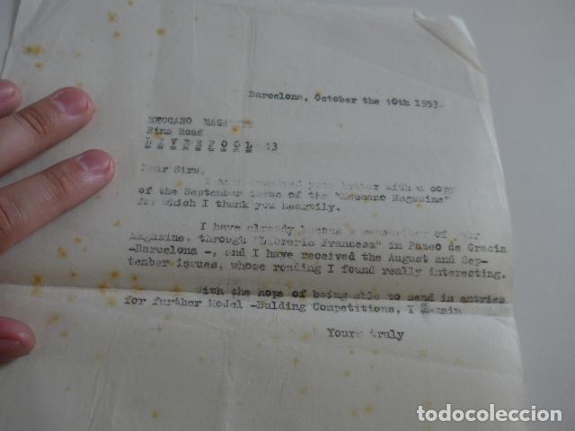 Juegos construcción - Meccano: Lote meccano premio de Liverpool 1953, maquina rallar papel + 7 diplomas + documentos... - Foto 50 - 132421206