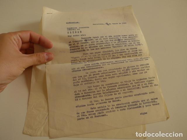 Juegos construcción - Meccano: Lote meccano premio de Liverpool 1953, maquina rallar papel + 7 diplomas + documentos... - Foto 53 - 132421206