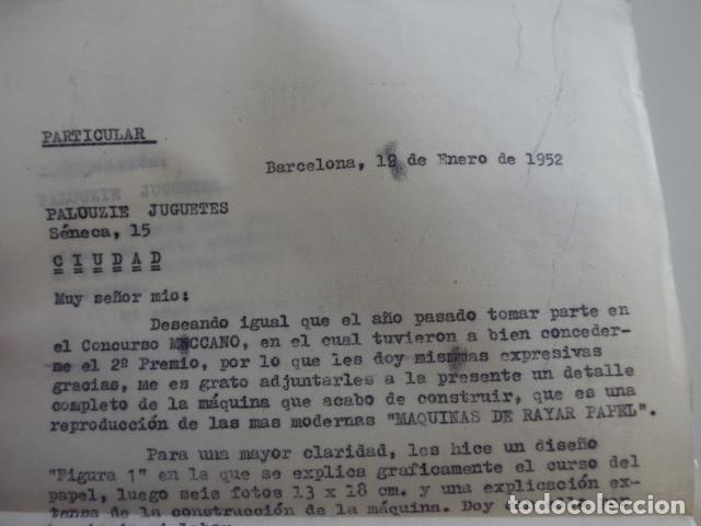 Juegos construcción - Meccano: Lote meccano premio de Liverpool 1953, maquina rallar papel + 7 diplomas + documentos... - Foto 54 - 132421206