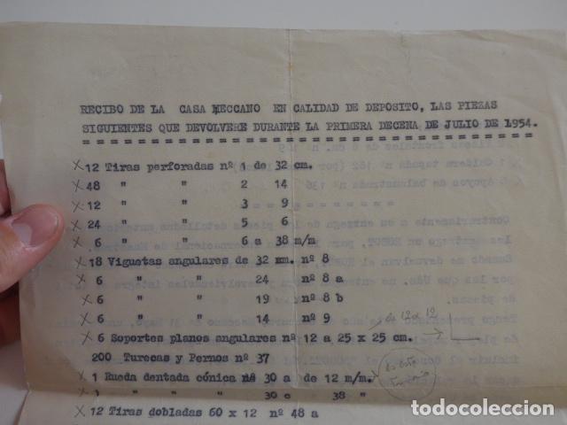 Juegos construcción - Meccano: Lote meccano premio de Liverpool 1953, maquina rallar papel + 7 diplomas + documentos... - Foto 60 - 132421206