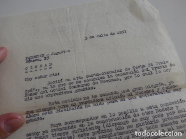 Juegos construcción - Meccano: Lote meccano premio de Liverpool 1953, maquina rallar papel + 7 diplomas + documentos... - Foto 62 - 132421206