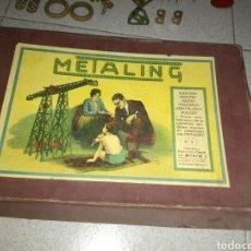Juegos construcción - Meccano: ANTIGUO METALING CASI COMPLETO. Lote 135616970