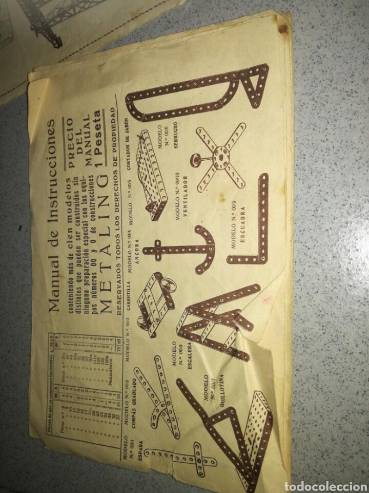 Juegos construcción - Meccano: Antiguo Metaling casi completo - Foto 4 - 135616970