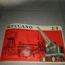 Juegos construcción - Meccano: MANUAL MECCANO 2/3. Lote 135618146
