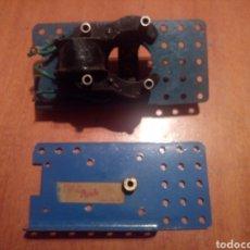 Juegos construcción - Meccano: RESTOS DE MOTOR ELECTRICO MECCANO. Lote 136345073