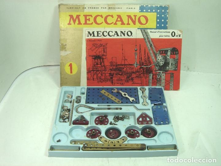 Juegos construcción - Meccano: ANTIGUO JUEGO - MECCANO 1 M O- INCLUYE CATALOGO - MADE IN FRANCE AÑOS 60 -MECANO - Foto 2 - 136668170