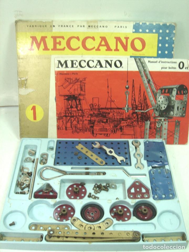 Juegos construcción - Meccano: ANTIGUO JUEGO - MECCANO 1 M O- INCLUYE CATALOGO - MADE IN FRANCE AÑOS 60 -MECANO - Foto 3 - 136668170