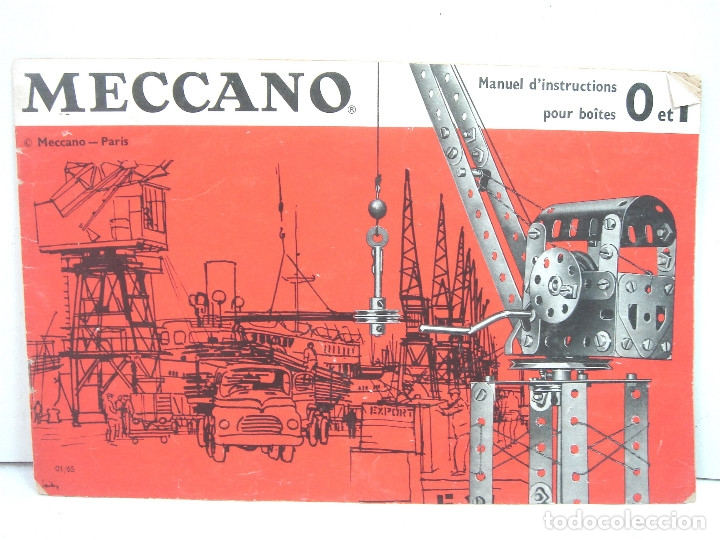 Juegos construcción - Meccano: ANTIGUO JUEGO - MECCANO 1 M O- INCLUYE CATALOGO - MADE IN FRANCE AÑOS 60 -MECANO - Foto 5 - 136668170