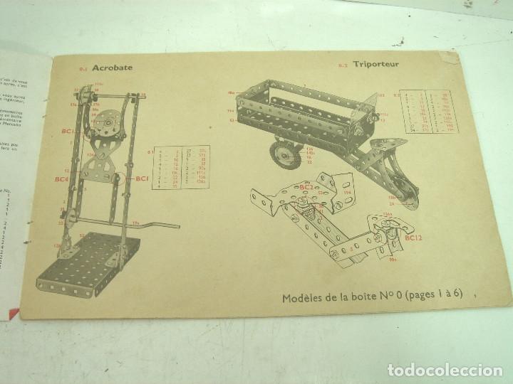 Juegos construcción - Meccano: ANTIGUO JUEGO - MECCANO 1 M O- INCLUYE CATALOGO - MADE IN FRANCE AÑOS 60 -MECANO - Foto 6 - 136668170
