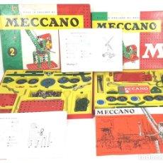 Juegos construcción - Meccano: JUEGO DE CONSTRUCCIÓN. MECCANO. CAJAS 1 Y 2. INCLUYE INSTRUCCIONES. CIRCA 1970.. Lote 136692954