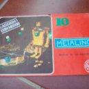 Juegos construcción - Meccano: MANUAL DE INSTRUCCIONES MECANO METALING Nº 10 . 1970. Lote 137715074