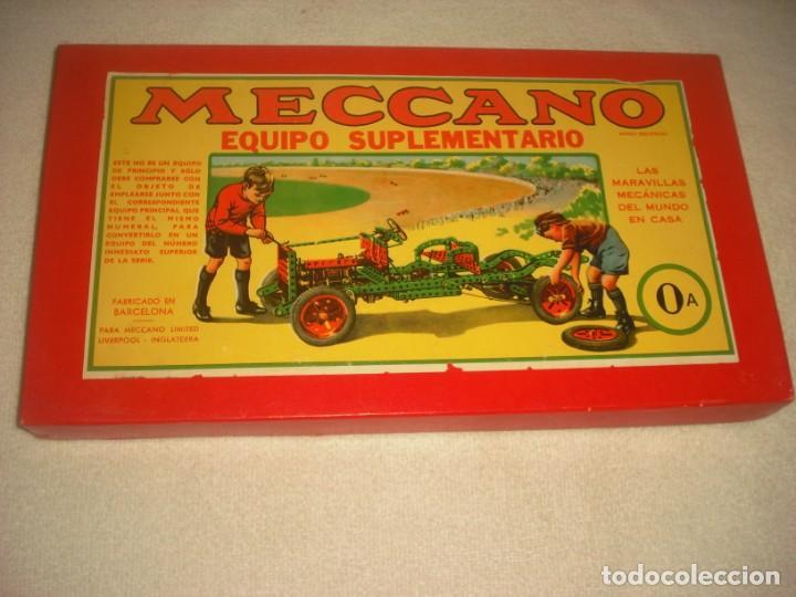 MECCANO, EQUIPO SUPLEMENTARIO 0A (Juguetes - Construcción - Meccano)