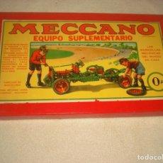 Juegos construcción - Meccano: MECCANO, EQUIPO SUPLEMENTARIO 0A. Lote 140061814
