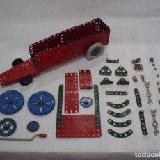 Juegos construcción - Meccano: LOTE ANTIGUO MECCANO MECANO PIEZAS. Lote 140843062
