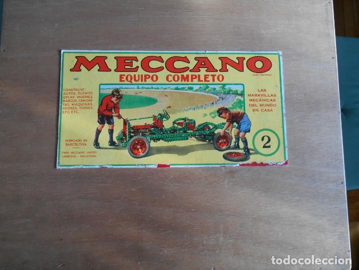 MECCANO Nº 2-CAJA DE MADERA, CON CATÁLOGOS DE INSTRUCCIONES .Y LA MAYORÍA DE LAS PIEZAS. (Juguetes - Construcción - Meccano)