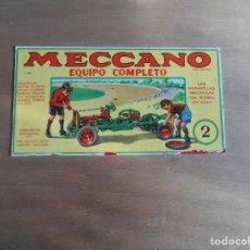 Juegos construcción - Meccano: MECCANO Nº 2-CAJA DE MADERA, CON CATÁLOGOS DE INSTRUCCIONES .Y LA MAYORÍA DE LAS PIEZAS.. Lote 141918406