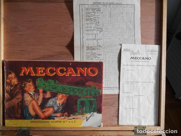 Juegos construcción - Meccano: Meccano Nº 2-Caja de madera, con catálogos de instrucciones .y la mayoría de las piezas. - Foto 2 - 141918406