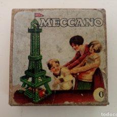 Juegos construcción - Meccano: CAJA DE CARTON ORIGINAL 0 MECCANO AÑOS 50. Lote 142779286