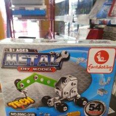 Juegos construcción - Meccano: PIEZAS PARECIDO A MECCANO. MARCA METAL 54 PIEZAS. Lote 143708529