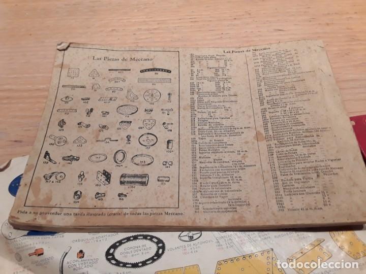 Juegos construcción - Meccano: Meccano lote piezas , instrucciones etc, antiguo. - Foto 9 - 145683110