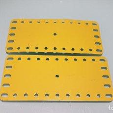 Juegos construcción - Meccano: PLACAS METÁLICAS FLEXIBLES MECCANO. Lote 146465526