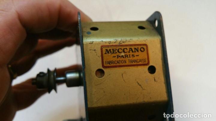 Juegos construcción - Meccano: MOTOR ELECTRICO MECCANO 115/120 V MOTOR CON DOS SENTIDOS DE MARCHA - MECCANO PARIS - Foto 7 - 147538474