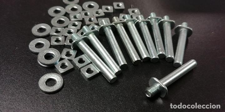 Juegos construcción - Meccano: Meccano parte nº 115a. Lote de 10 pins largos originales Francia. - Foto 2 - 147937290