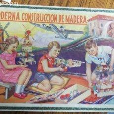 Juegos construcción - Meccano: JUEGO DE CONSTRUCCIÓN DE MADERA, INSTRUCCIONES. PIEZAS, LA CAJA ESTÁ BIEN.. Lote 150568662