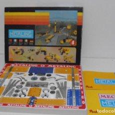 Juegos construcción - Meccano: JUEGO METALING, POCH, COMPLETO, CAJA, PIEZAS, MANUALES, AÑOS 80. Lote 150624246