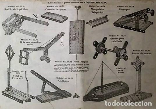 MECCANO. INSTRUCCIONES EQUIPOS Nº 00-0 Nº611 (Juguetes - Construcción - Meccano)
