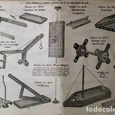 Juegos construcción - Meccano: MECCANO. INSTRUCCIONES EQUIPOS Nº 00-0 Nº611. Lote 150638374