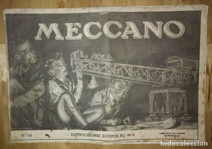 Juegos construcción - Meccano: Meccano. Instrucciones equipos nº 00-0 nº611 - Foto 2 - 150638374