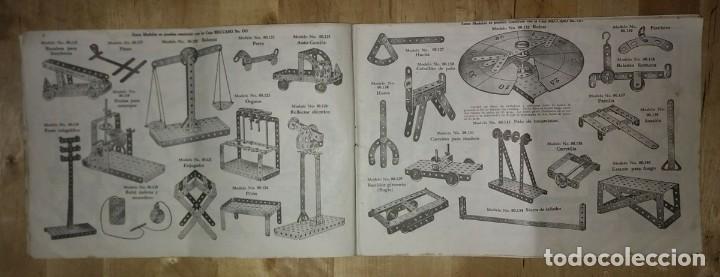 Juegos construcción - Meccano: Meccano. Instrucciones equipos nº 00-0 nº611 - Foto 3 - 150638374