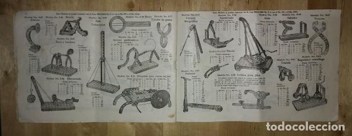 Juegos construcción - Meccano: Meccano. Instrucciones equipos nº 00-0 nº611 - Foto 4 - 150638374