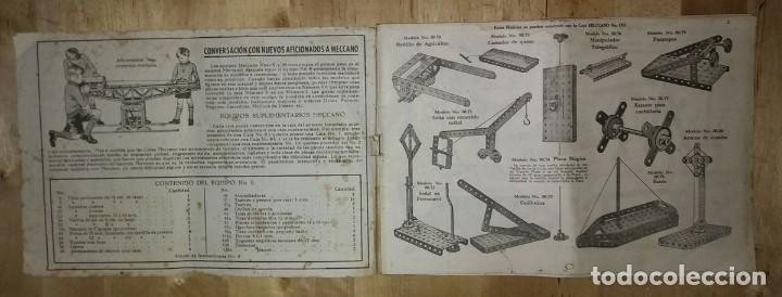 Juegos construcción - Meccano: Meccano. Instrucciones equipos nº 00-0 nº611 - Foto 5 - 150638374