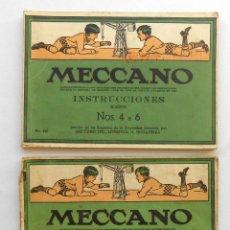 Juegos construcción - Meccano: 2 CATALOGOS MANUAL DE INSTRUCCIONES MECCANO Nº 0-3 Y 4-6. Lote 150659854
