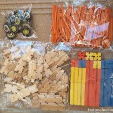 Juegos construcción - Meccano: PIEZAS PARA MECANO DE MADERA AÑOS 70. Lote 151900690