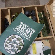 Juegos construcción - Meccano: MECCANO ARMY MULTI KIT CON MALETIN MECCANO DE MADERA INSTRUCCIONES Y CASI TODAS LAS PIEZAS. Lote 152030896