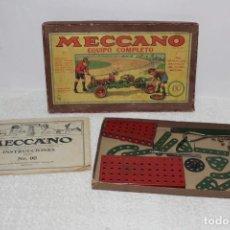Giochi costruzione - Meccano: ANTIGUO MECCANO EQUIPO Nº 00 CON INSTRUCCIONES. Lote 154547502
