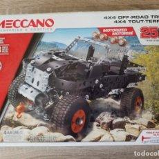 Juegos construcción - Meccano: COCHE 4X4 MECCANO MOTOR ELÉCTRICO SET 25 MODELOS 443 PCS EXCELENTE ESTADO. Lote 156559258